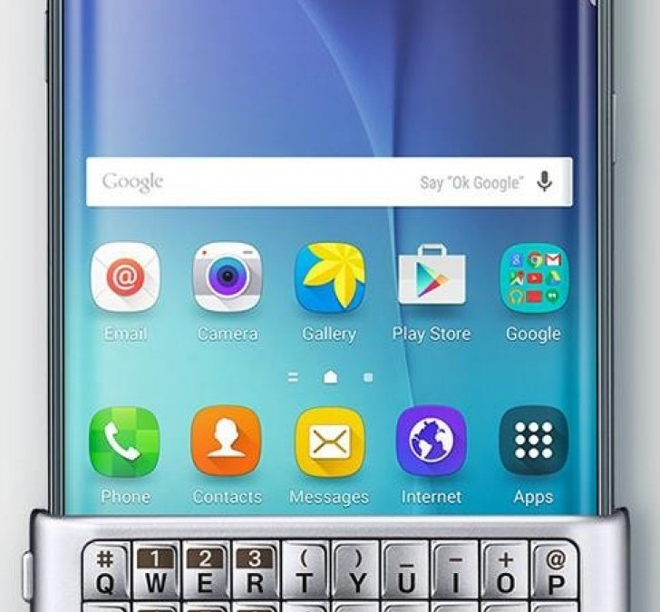This odd physical keyboard for the Galaxy S6 edge